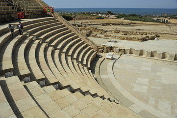 Amphitheater in the Caesarea National Park, Israel