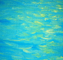 solar patches of light on a sea wave, painting by oil on canvas