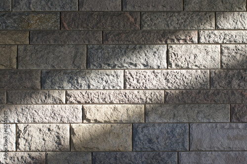 Sunbeam across a stone wall 1