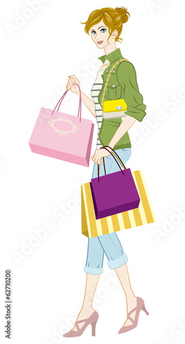 Shopping girl, Casual fashion