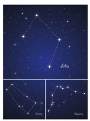 Constellations Gemini,Aquarius and Libra