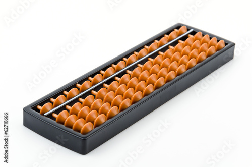 Abacus isolated white background