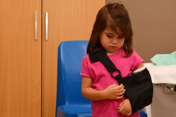 Girl with a broken arm