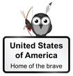 Monochrome United States of America sign