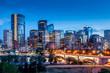 Leinwandbild Motiv Calgary skyline at night