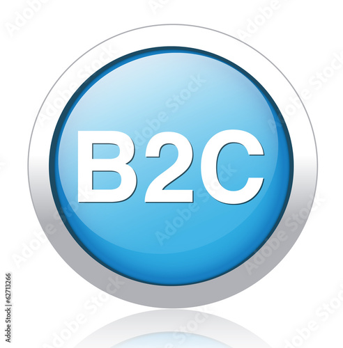 b2c ( business to consumer ) button