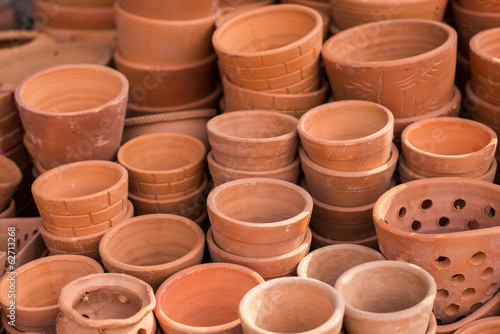 plant pot in material of earthenware.