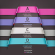 Abstract infographics template ribbon style. Vector illustration