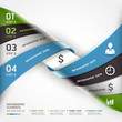 Abstract spiral business steb options banner. Vector illustratio