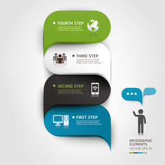 Modern infographics bubble speech template style. Vector illustr