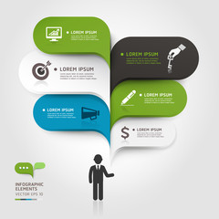 Modern business bubble speech template style. Vector illustratio