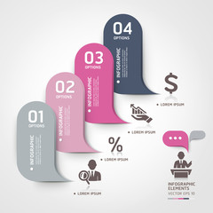 Modern business bubble speech template style. Vector illustratio