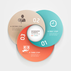 Modern business circle origami style options banner.Vector illu