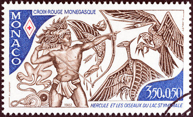 Hercules slaying the Stymphalian Birds (Monaco 1982)