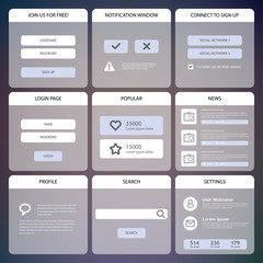 Flat Mobile UI Design