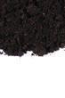 Black ground close up  isolated on white