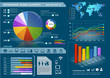 Colorful Infographic Elements with World map and Information Gra