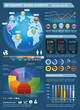 Colorful Infographic Elements with global map and Information Gr