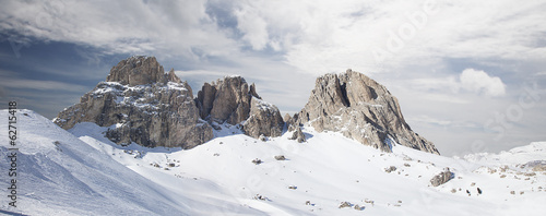 Panoramic view of Dolomites