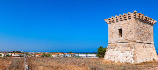 Medieval watchtower at Kiti. Larnaca