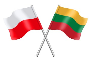 Flags : Poland and Lithuania