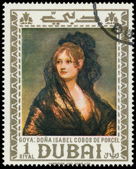 DUBAI - CIRCA 1967: a stamp printed in the Dubai shows Dona Isab