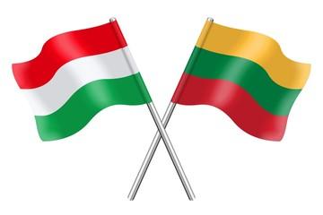 Flags : Hungary and Lithuania