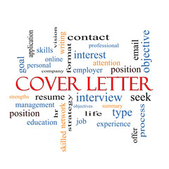 Cover Letter Word Cloud Concept