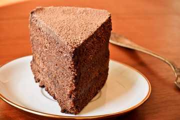 Delicate chocolate cake