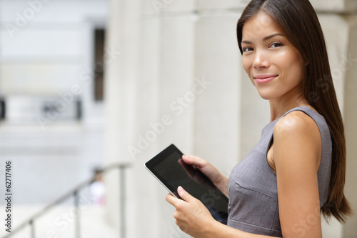 Businesswoman lawyer using tablet pc