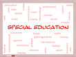 Special Education Word Cloud Concept on a Whiteboard
