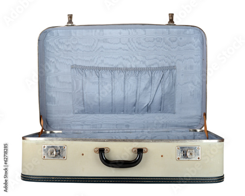 Retro suitcase isolated on white background