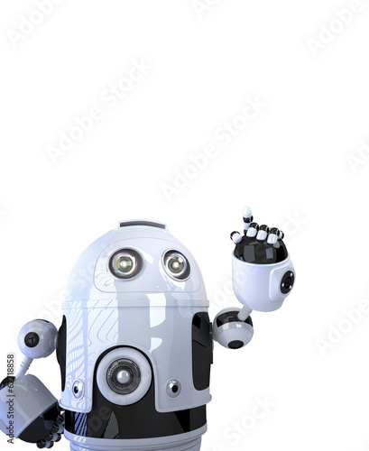 Robot pointing at something