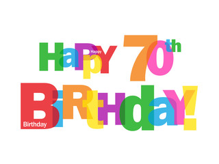 """HAPPY 70TH BIRTHDAY"" CARD (seventy party celebration congrats)"