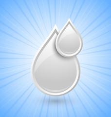 Milk drops icon