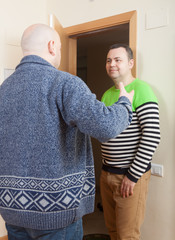 man coming to visit his friend