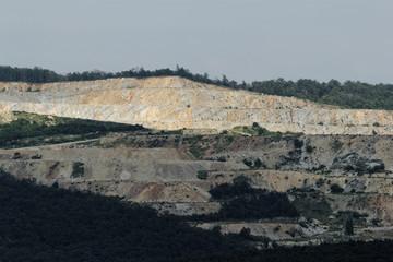 Landscape of a quarry