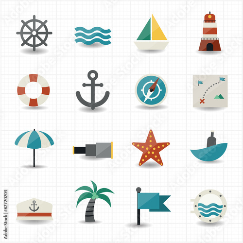 Nautical and sea icons