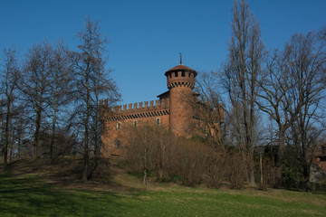 Castle in the Valentino Village, Turin, Italy