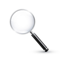 Magnifying glass realistic detailed vector icon
