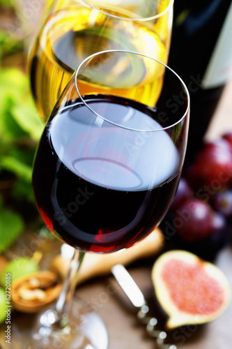 Wine and grape