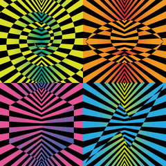 Abstract optical illusions