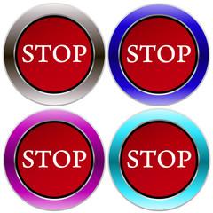 векторные кнопки стоп