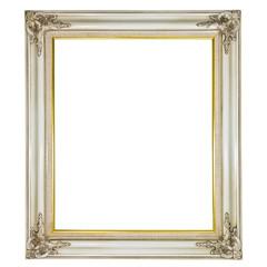 old antique white frame