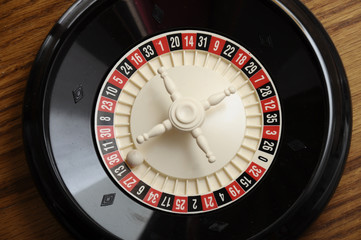 Casino roulette on the number thirteen black and odd