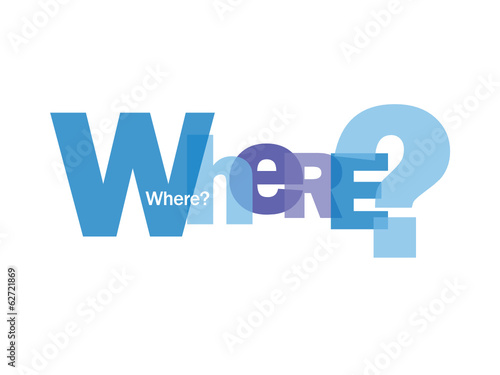 """WHERE?"" Letter Collage (directions map gps tourist information)"
