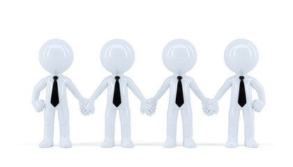 Group of businesspeople. Isolated with clipping path