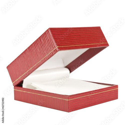 Red rectangular ring box