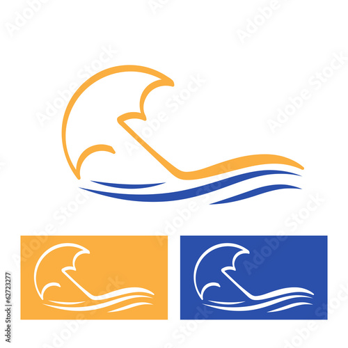 Vector Logo Beach
