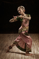 Indian classical dance Bharatanatyam dancer